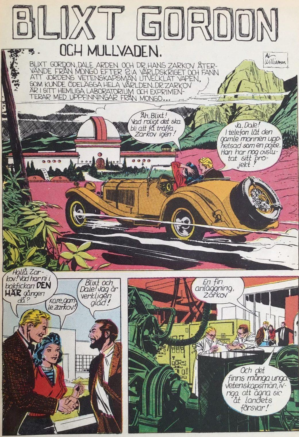 Blixt Gordon av Al Williamson, ur Comics 6, den stora serieboken (1974)