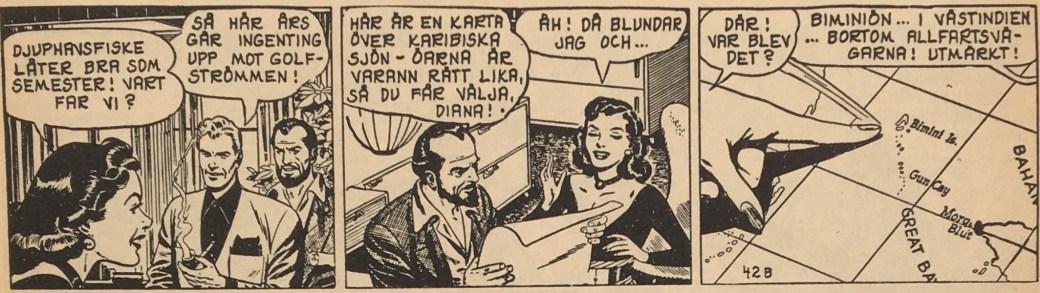 Samma dagsstripp ur Blixt Gordon nr 1, 1963