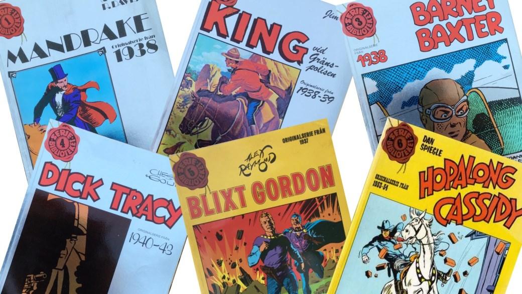 Albumserien Seriebiblioteket utkom i sex utgåvor