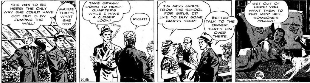 En stripp av Mel Graff från 12 juli 1940