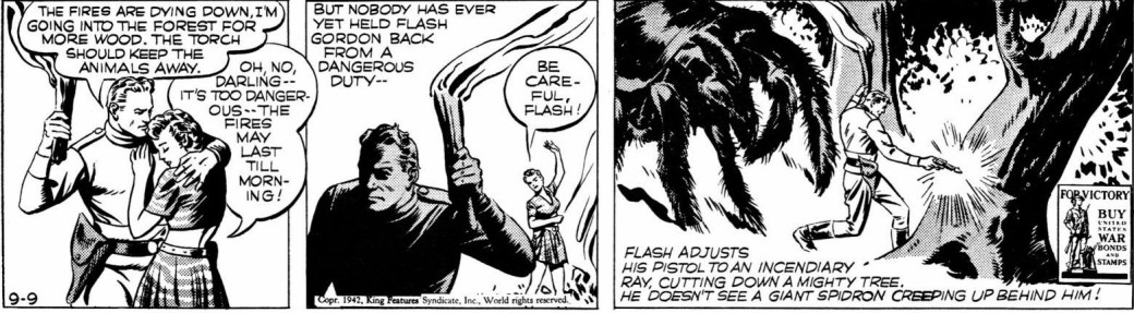 Flash Gordon av Austin Briggs från 9 september 1942