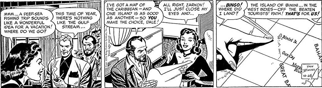 Dagsstripp av Dan Barry från 26 oktober 1953