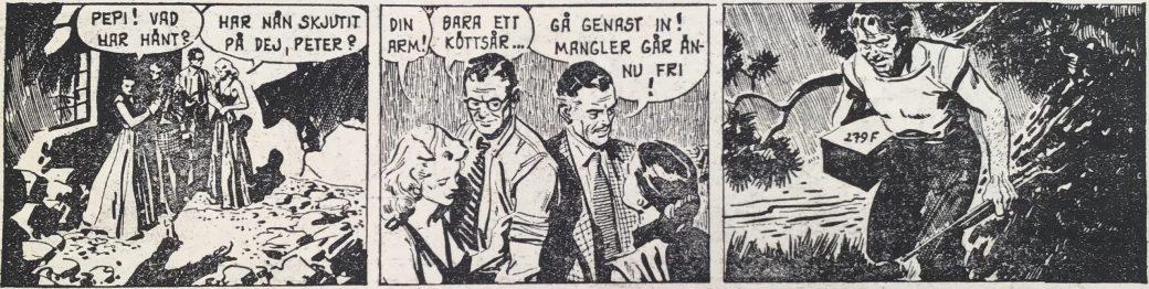 En stripp ur den gömda skatten från Peter Falk nr 1, 1964 som har varit utsatt för viss redigering av original