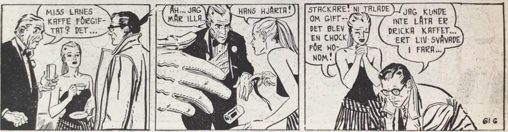 En stripp ur Melody Lane från Peter Falk nr 1, 1964 som har varit utsatt för viss redigering av original