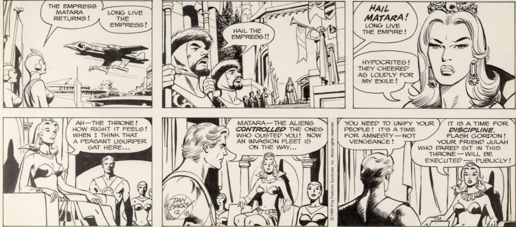 En söndagssida av Barry från 18 december 1988