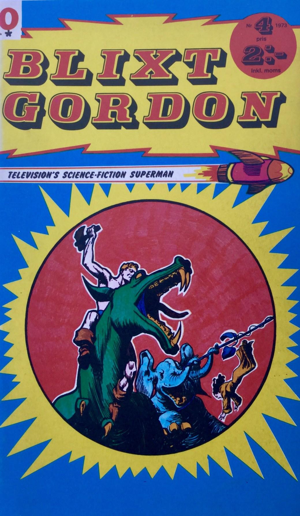 Omslag till Blixt Gordon nr 4, 1974