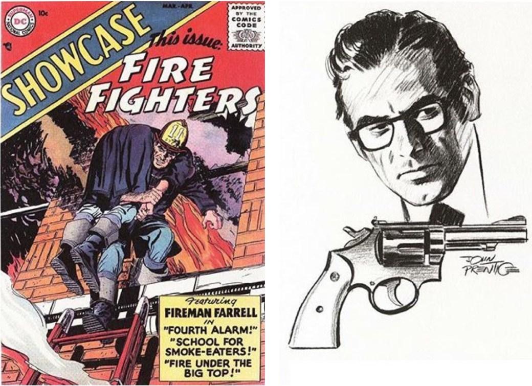 John Prentice tecknade omslaget till Showcase 1, 1956 och kort därefter tog han över Rip Kirby-serien