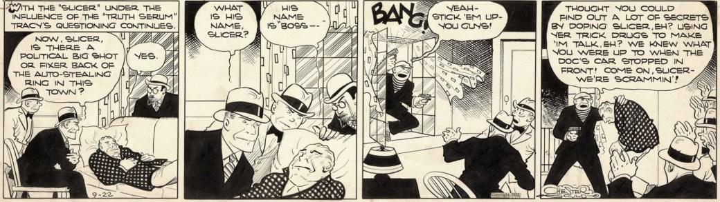 En Dick Tracy-stripp från 22 september 1933