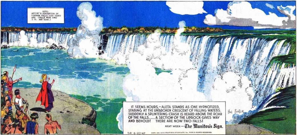 Den 22 juni 1947 besökte Valiant och Aleta Niagara Falls