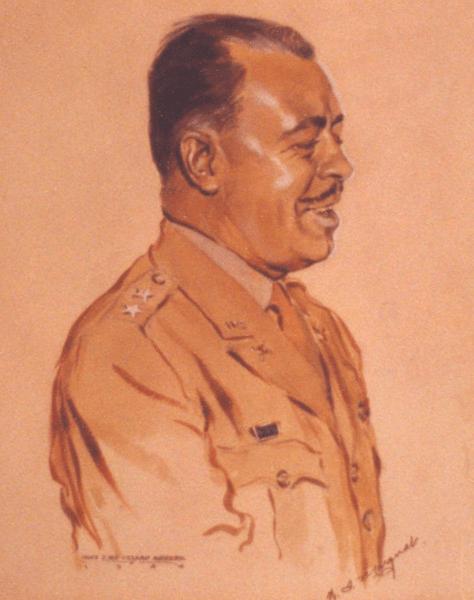 Militärporträtt av Murphy