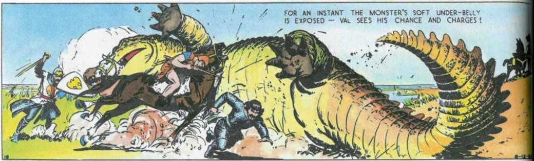 Prins Valiant slogs mot en jättelik havskrokodil den 12 juni 1937