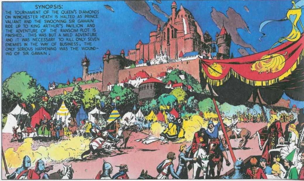 Den 30 oktober 1937 återvänder Valiant med den skadade Sir Gawain