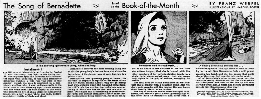 """Foster illustrerade """"Song of Bernadette"""" 1943"""