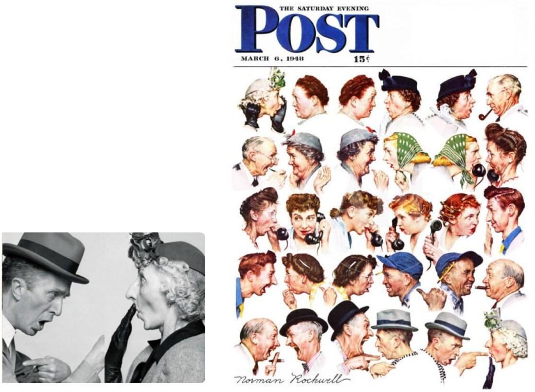 The Gossips: Rockwell agerade själv modell i en del av sina iscensättningar.