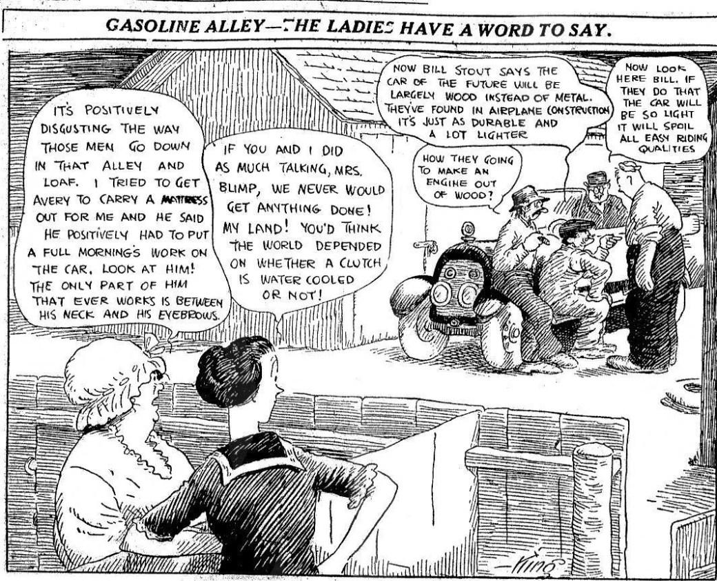 Gasoline Alley från måndag den 25 augusti 1919