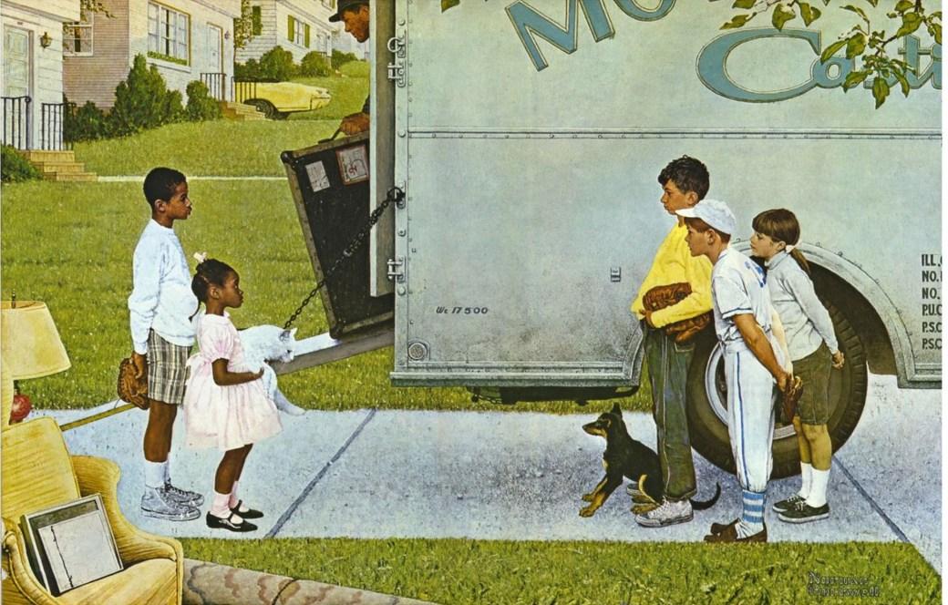 New Kids in the Neighborhood av Norman Rockwell