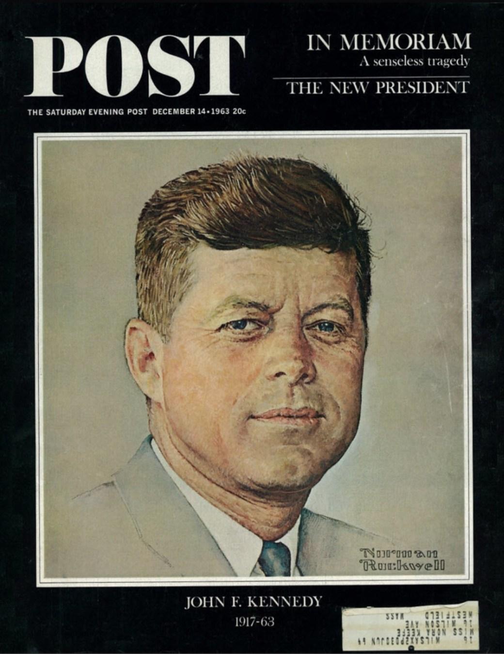 Porträtt av John F. Kennedy från 1960, återpublicerad 1963