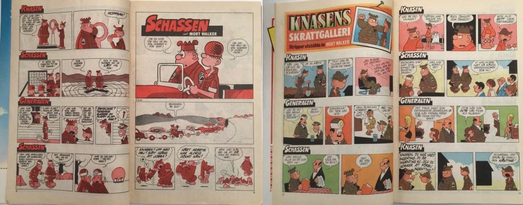 En tidning tryckt i tvåfärg, och en tryckt i fyrfärg