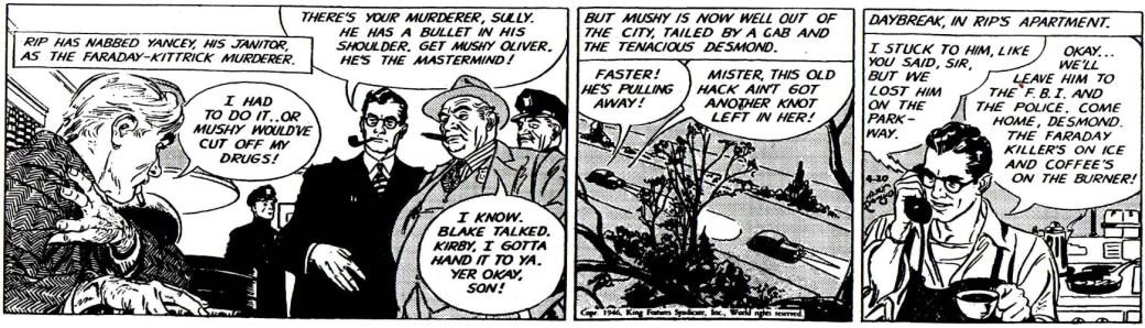 Sista strippen i The Chip Faraday Murder, från den 20 april 1946