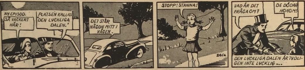 Den inledande strippen till Mandrake i den lyckliga dalen