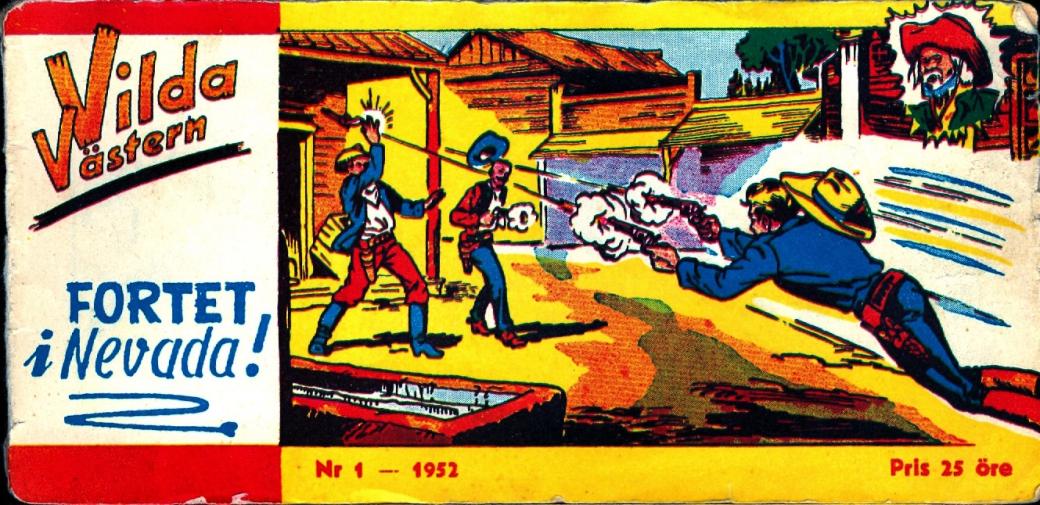 Första numret av Vilda Västern från 1952