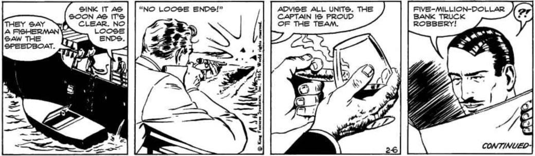 Davis fru tecknade Mandrake. Martha avslutade episoden The Team, här en stripp från 6 februari 1965