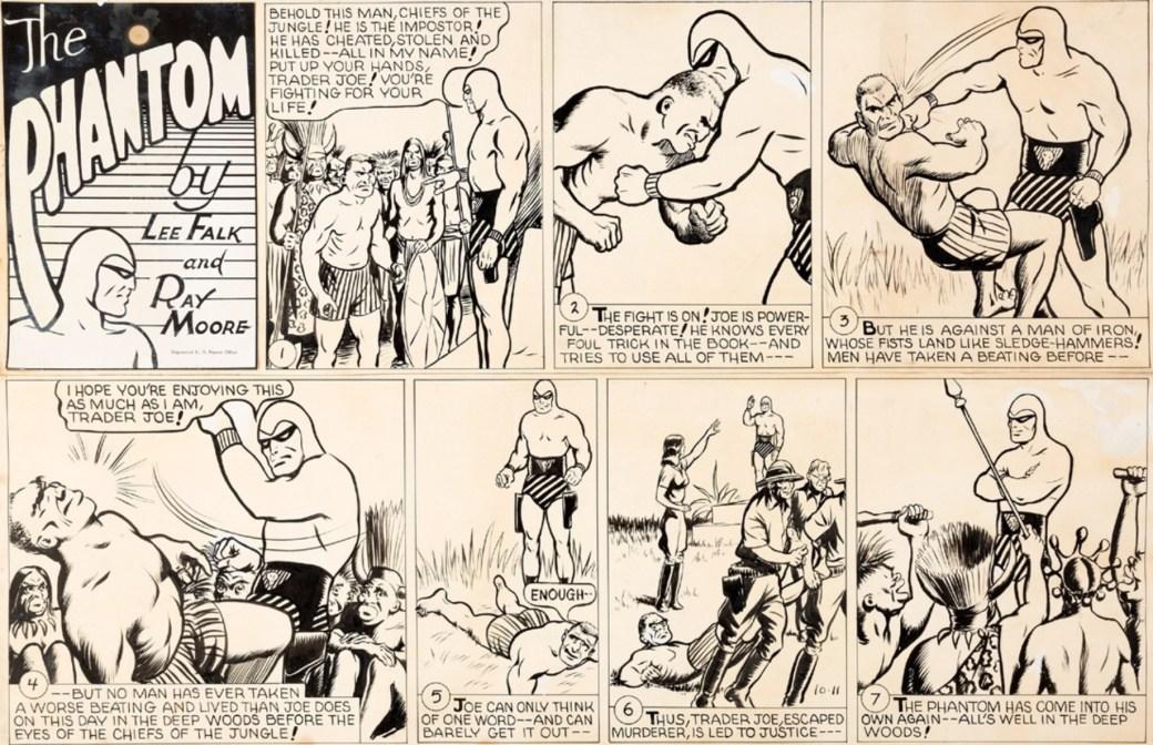 Original till en söndagssida av Ray Moore från 11 oktober 1942