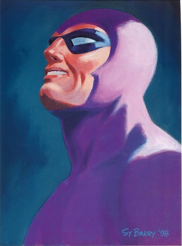 En målning av Sy Barry från 1998