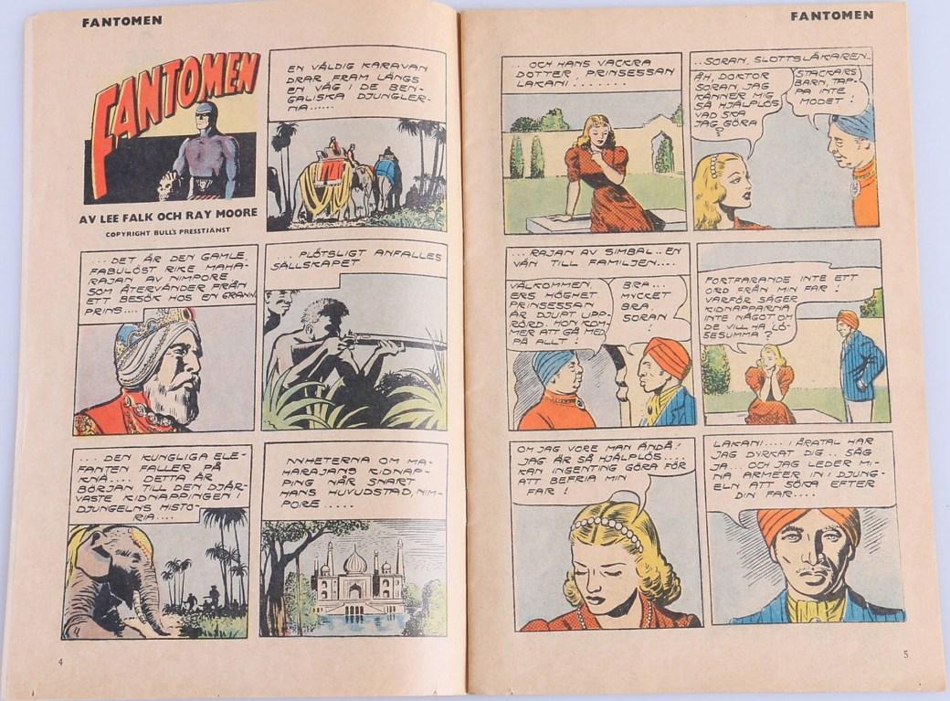 Innehållet i Fantomen-tidningen var omredigerade strippar från dagspresserien