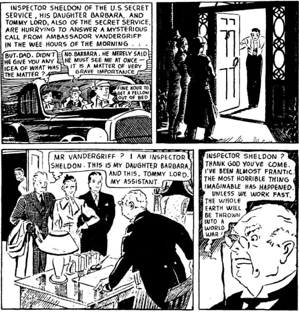 Den dramatiska första Mandrake-strippen den 11 juni 1934