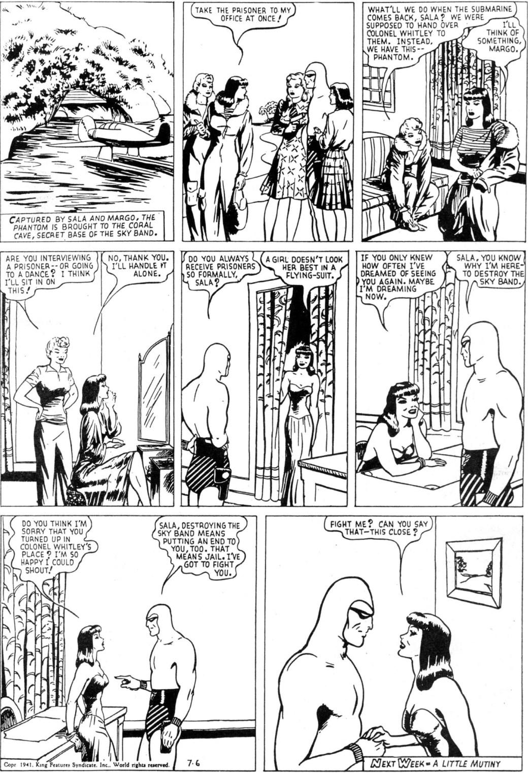 En stående söndagssida av Fantomen av Lee Falk och Ray Moore från 6 juli 1941