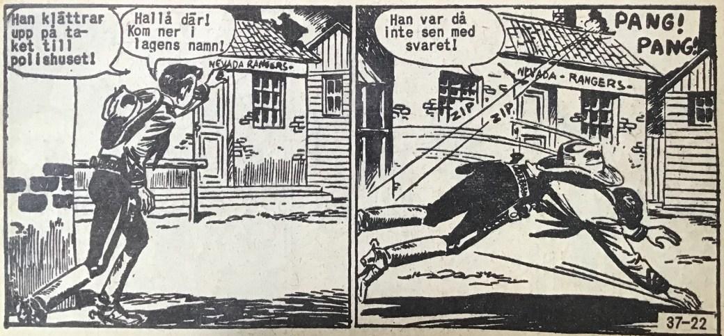 En sida ur Vilda Västern nr 37, 1959