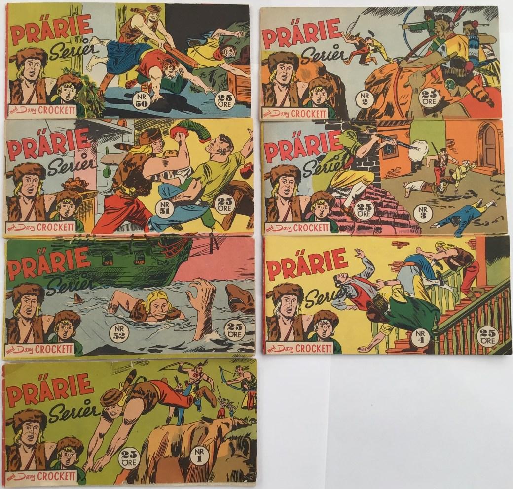 Davy Crockett 1960 i Prärieserier nr 50, 1959 - nr 4, 1960