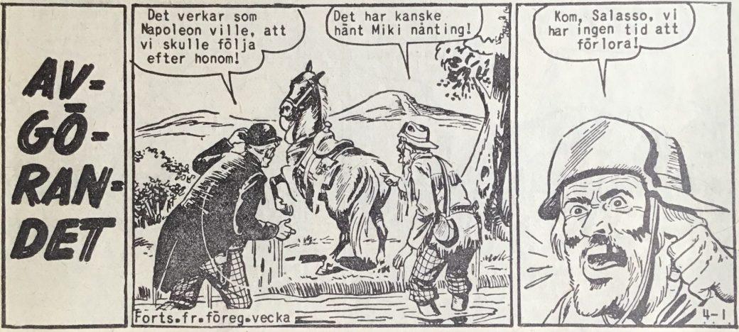 Den inledande sidan ur Vilda Västern nr 4, 1958