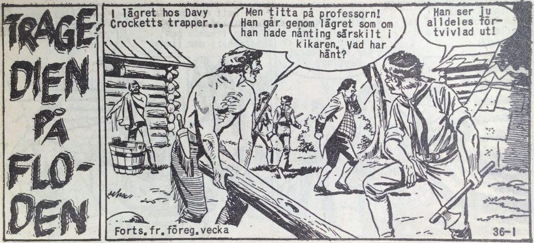 Den inledande sidan ur Prärieserier nr 36, 1959