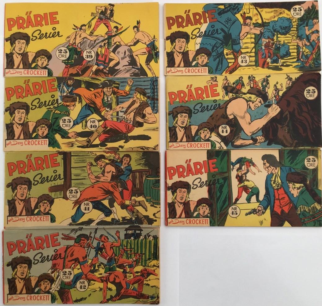 Davy Crockett-äventyr 1958 i Prärieserier nr 39-45, 1958