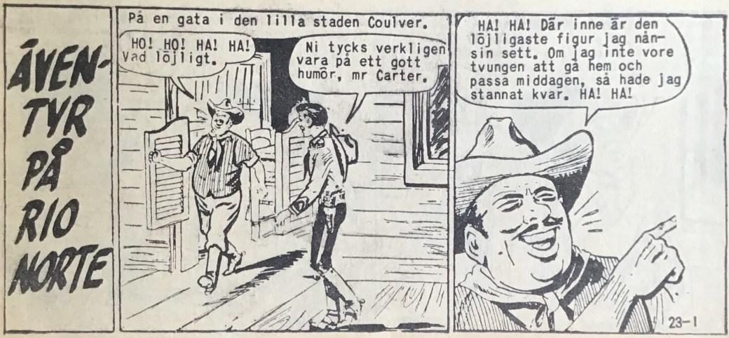 Den inledande sidan ur Vilda Västern nr 23, 1959