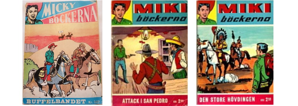 Micky/Miki-böckerna med Kapten Miki