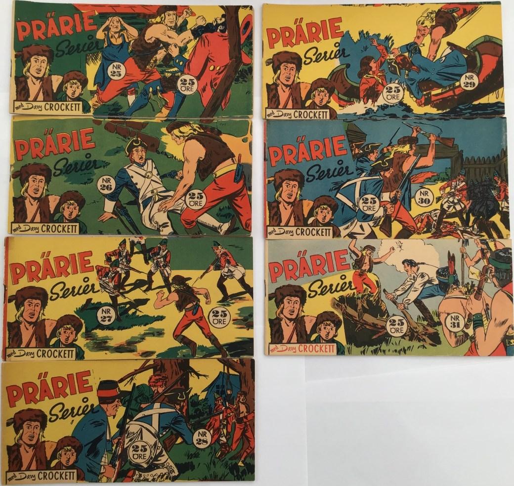Davy Crockett-äventyr 1958 I Prärieserier nr 25-31, 1958