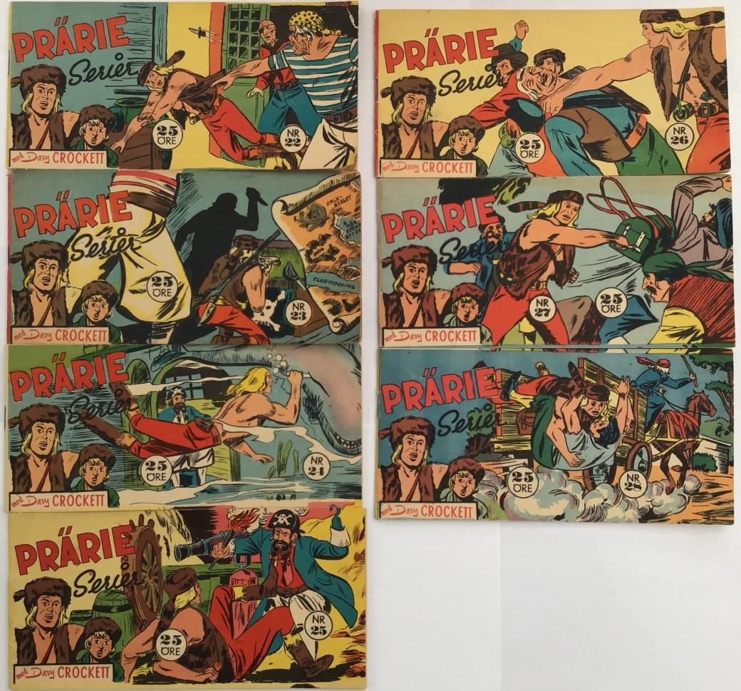 Davy Crockett-äventyr 1959 i Prärieserier nr 22-28, 1959