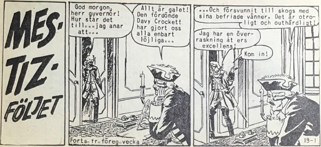 Den inledande sidan ur Prärieserier nr 18, 1958