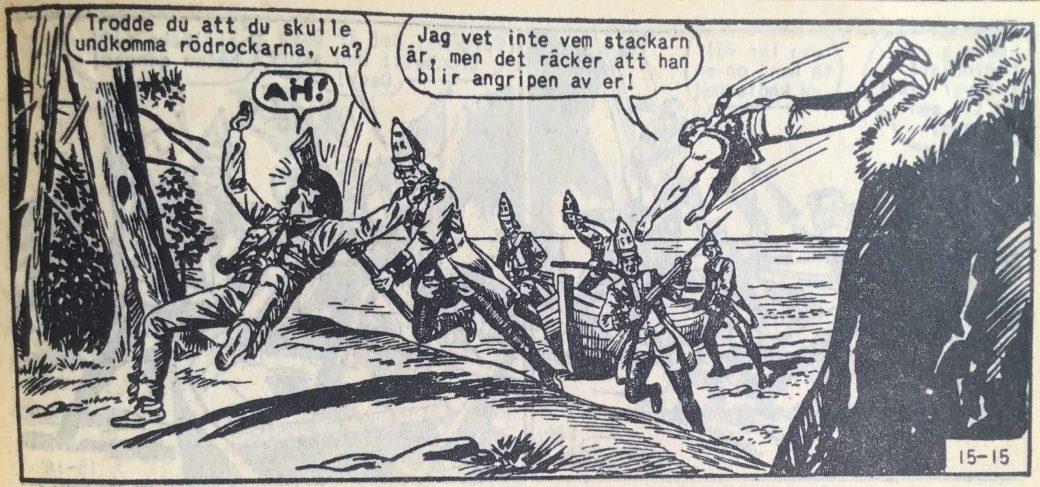 En sida ur Prärieserier nr 15, 1959