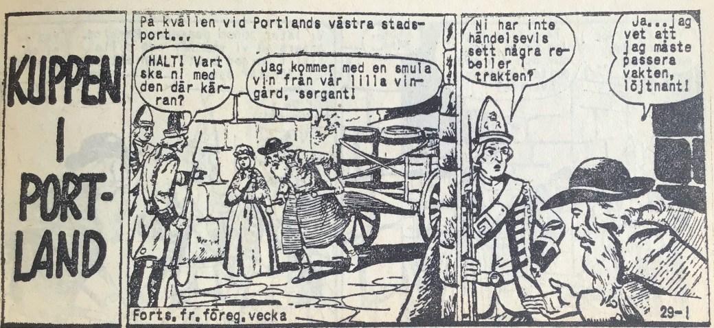 Den inledande sidan ur Prärieserier nr 29, 1959
