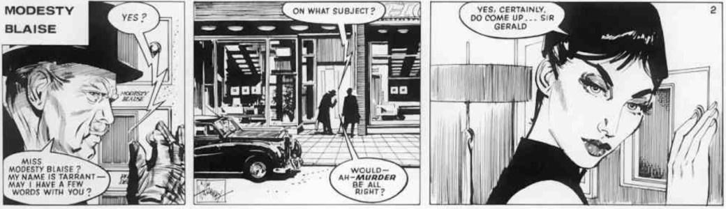 Modesty Blaise gör entré i stripp nr 2