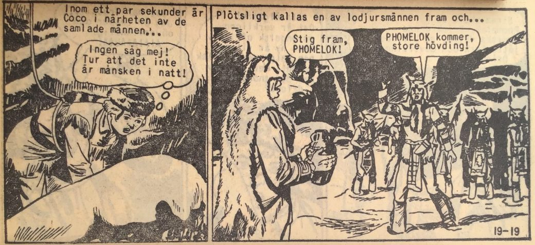 En sida ur Prärieserier nr 19, 1959