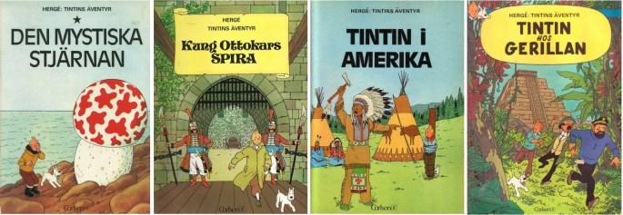 Tintin-album från 1972 utgivna av ©Carlsen/if förlag