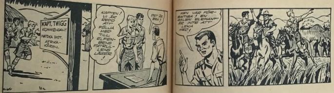 Slutet på episoden i Bob och Frank nr 10, 1954