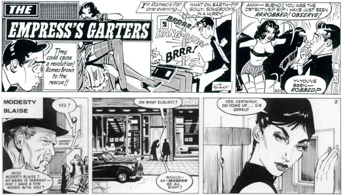 Peter O'Donnell och Jim Holdaway tog över Romeo Brown från Alfred Mazure 1956, och skapade Modesty Blaise 1963