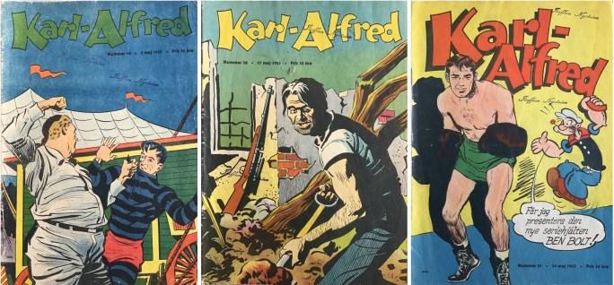 1953 krympte serietidningen Karl-Alfred till vanligt serietidningsformat