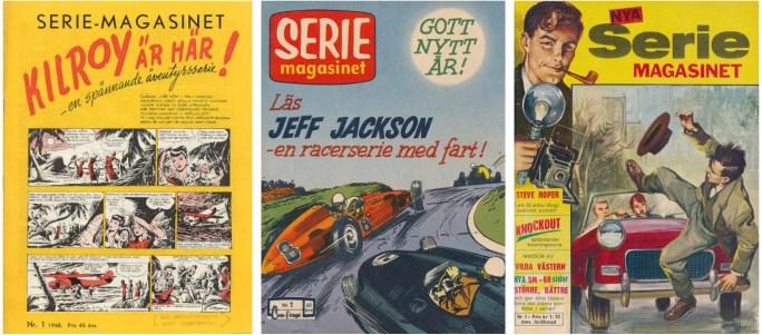 Seriemagasinet nr 1/1948, nr 1/1959 och nr 1/1963 utgiven av ©Centerförlaget